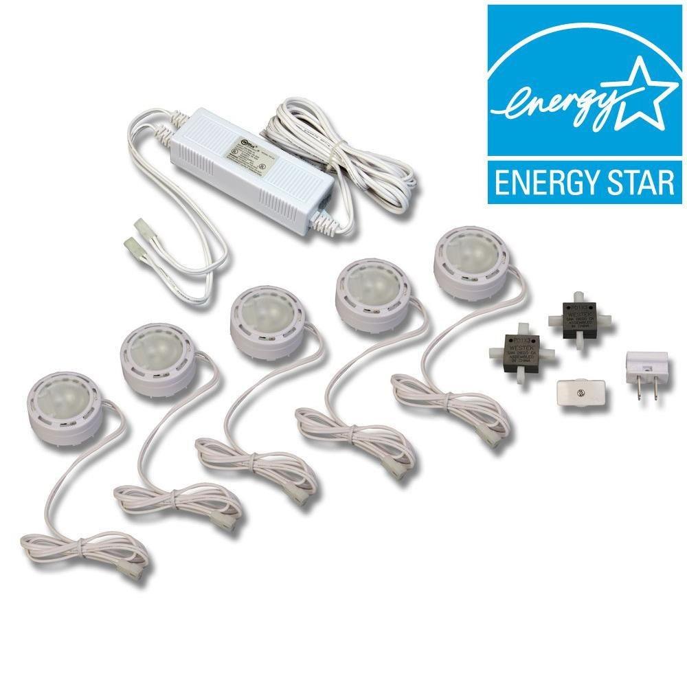 Amerelle Low Voltage Xenon White Pucks (5-pack)