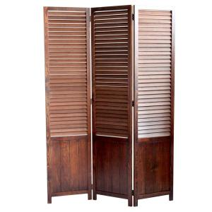 Perky 55 ft Brown 3 Panel Room Divider SG 257 The Home Depot