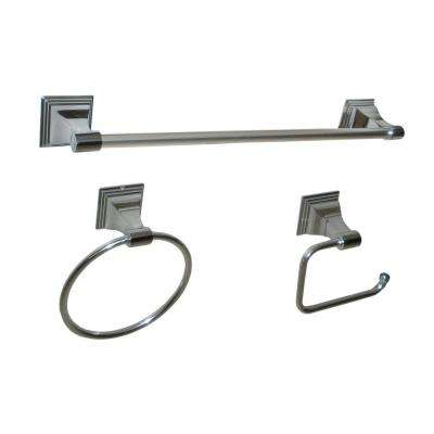 Leonard Collection 3-Piece Bathroom Hardware Kit in Chrome