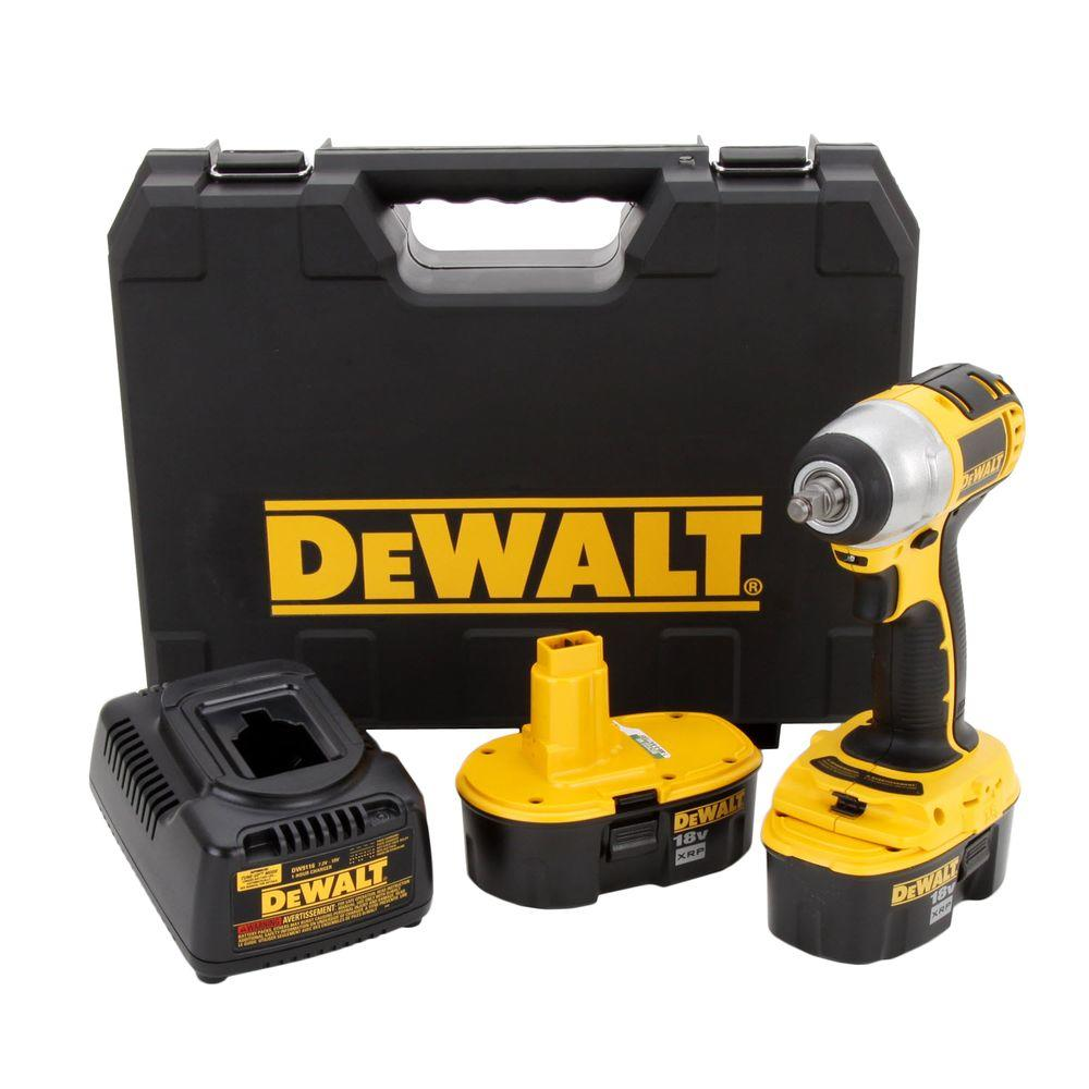 DeWALT 18-Volt XRP NiCd Cordless 3/8 in. Impact Wrench wi...