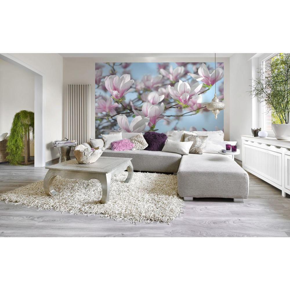 Komar 100 in. x 145 in. Magnolia Wall Mural-8-738 - The Home Depot