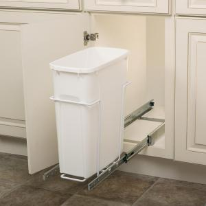 Knape & Vogt 8.38 inch x 20 inch x 17.31 inch In Cabinet Pull-Out Bottom Mount Trash Can by Knape & Vogt