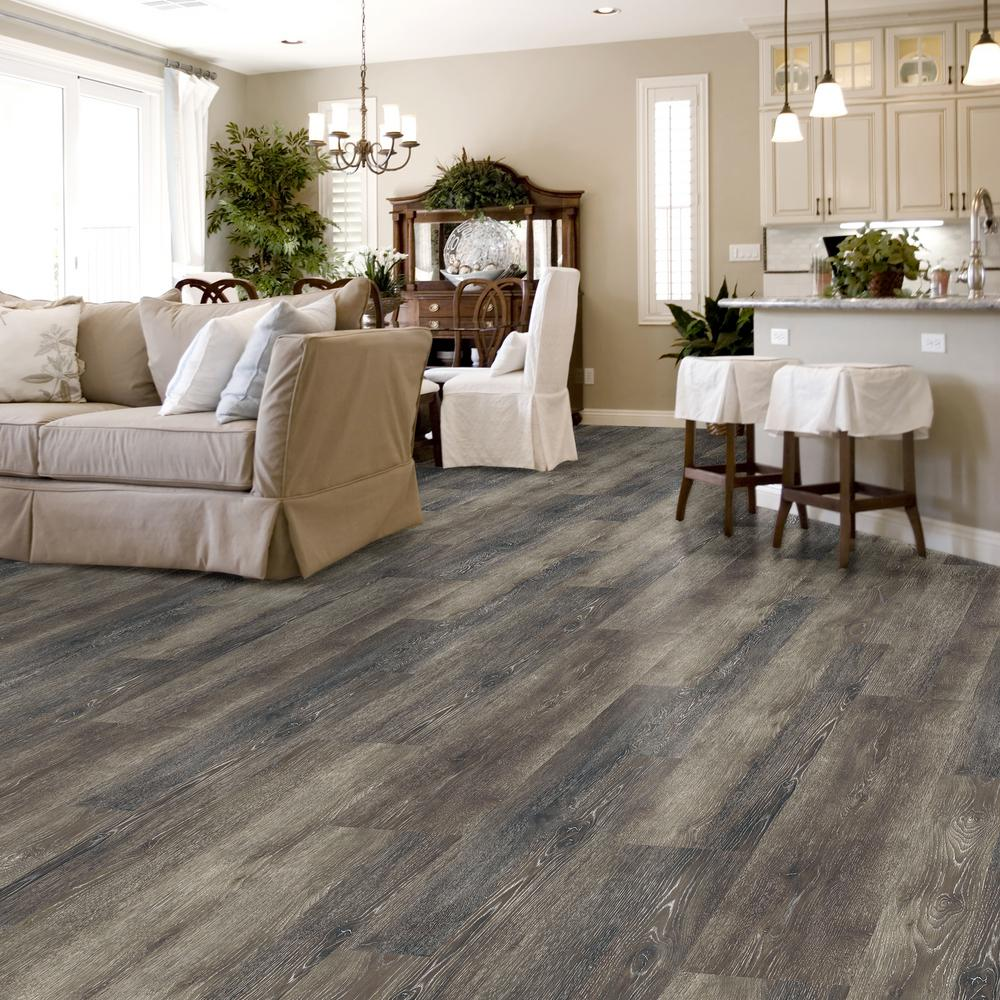 Peachy Lifeproof Dark Grey Oak Multi Width X 47 6 In Luxury Vinyl Plank Flooring 19 53 Sq Ft Case Gmtry Best Dining Table And Chair Ideas Images Gmtryco