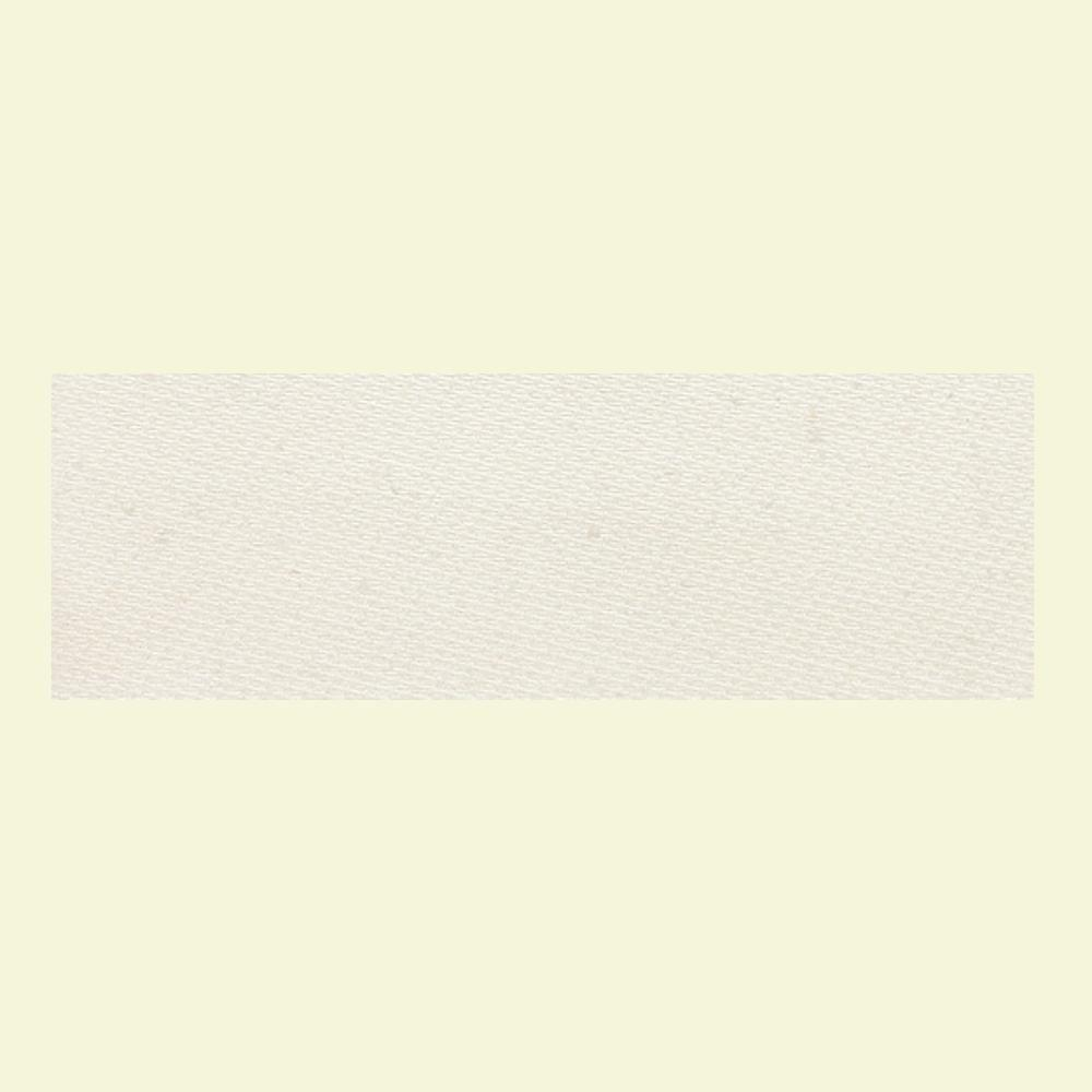 Daltile Identity Paramount White Fabric 4 in. x 12 in. Polished Porcelain Bullnose Floor and Wall Tile