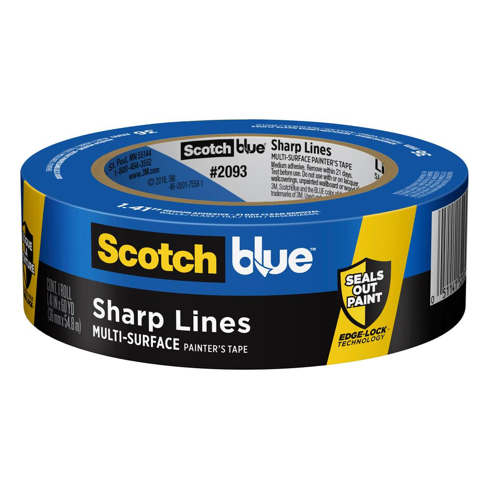 ScotchBlue 1.41 in. x 60 yds. Sharp Lines Multi-Surface Painter's Tape