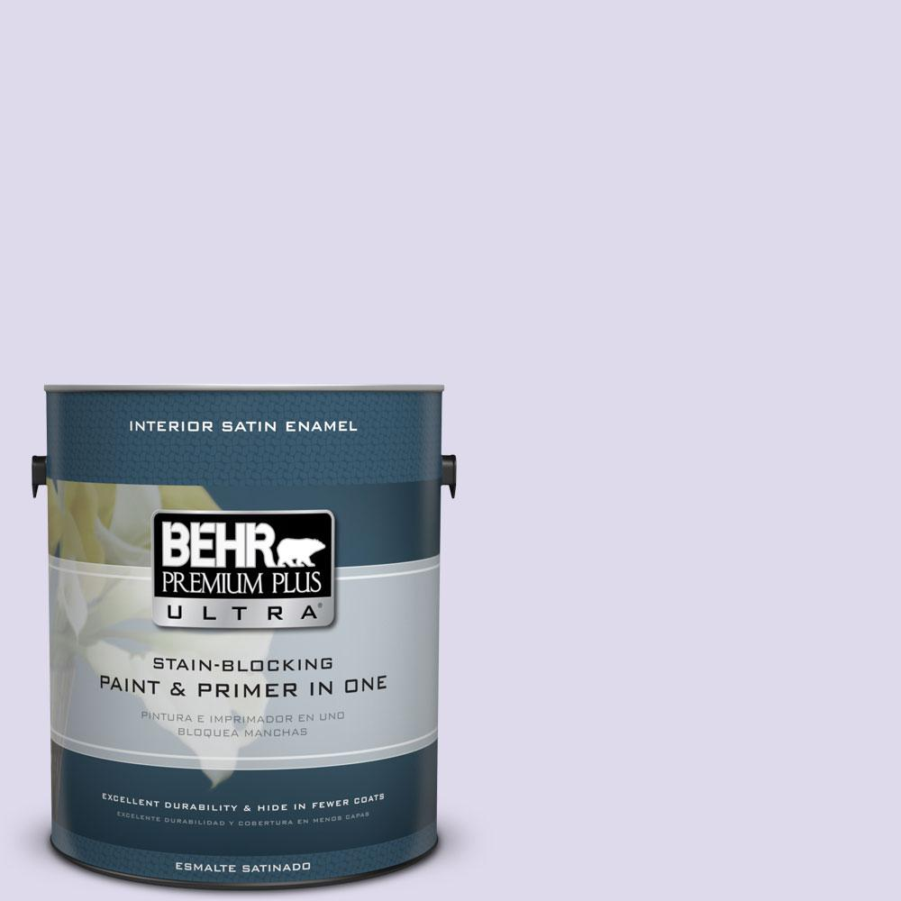 BEHR Premium Plus Ultra 1-gal. #640A-2 Misty Violet Satin Enamel Interior Paint