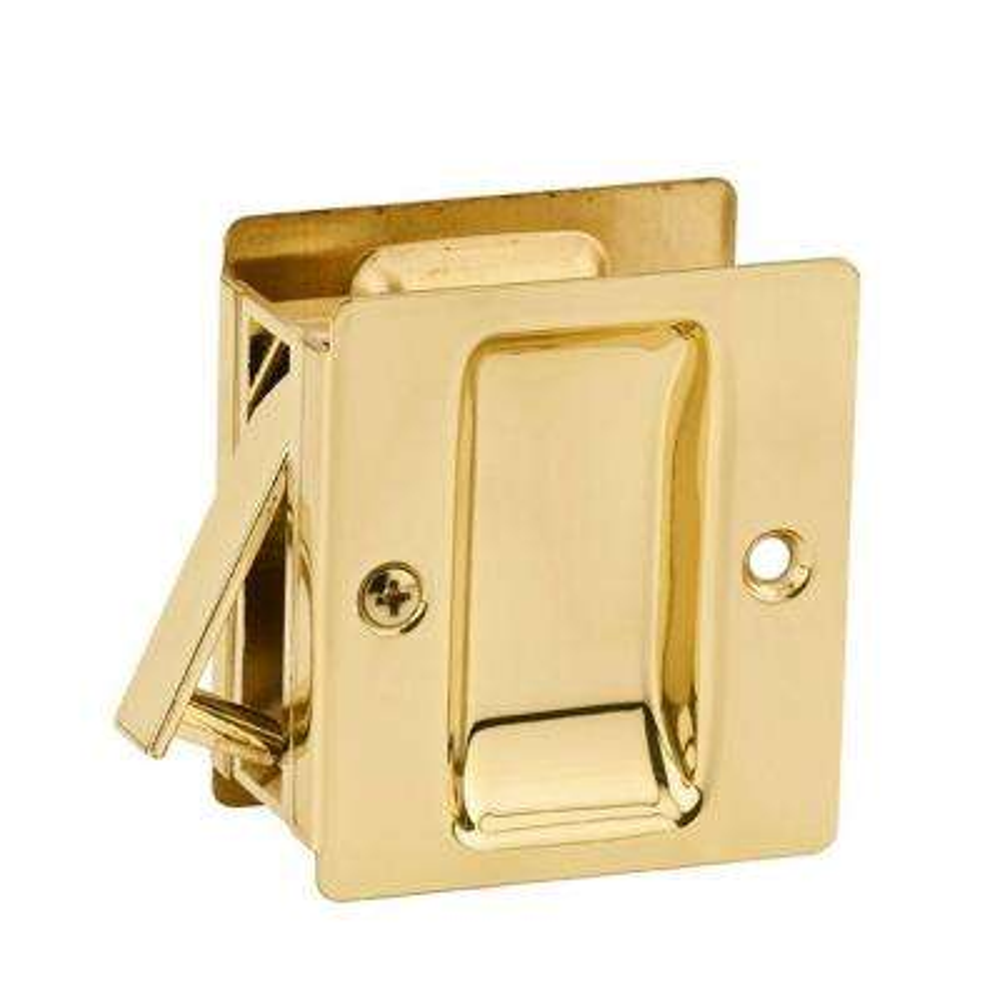 Notch Polished Brass Hall/Closet Pocket Door Lock