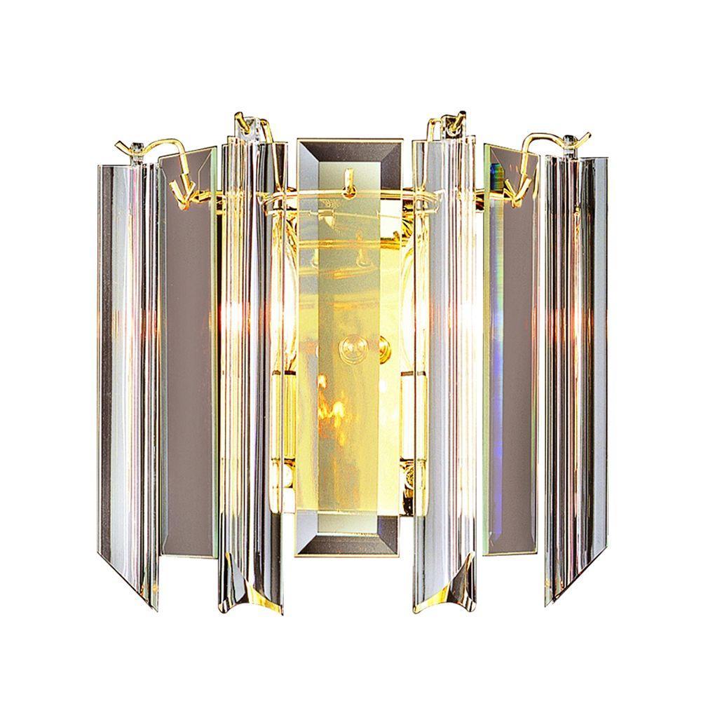 Stewart 2-Light Polished Brass Incandescent Sconce