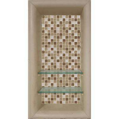Roma 12 in. x 4 in. x 24 in. Shower Niche in Brown Sugar