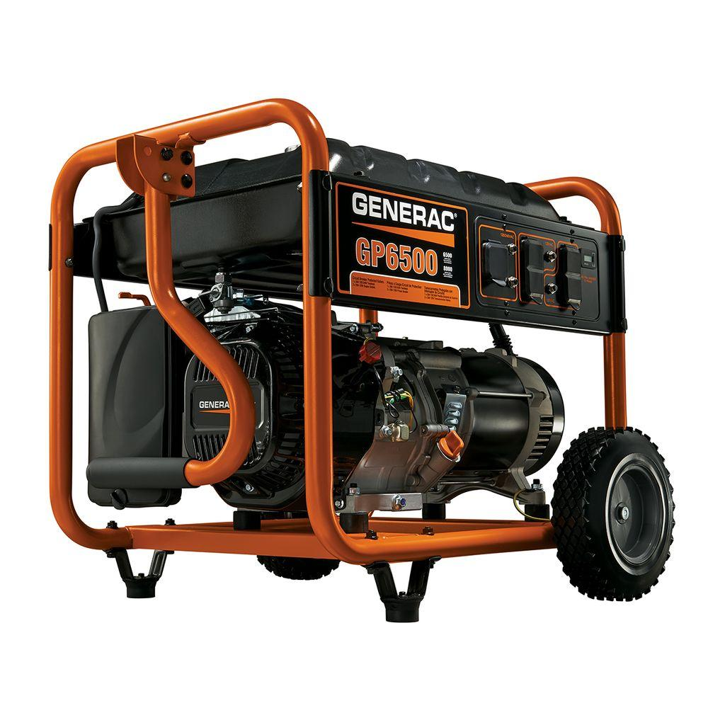 Generac 6,500-Watt Gasoline Powered Portable Generator