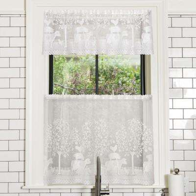 Farmhouse 60 in. L Valance in Off-White