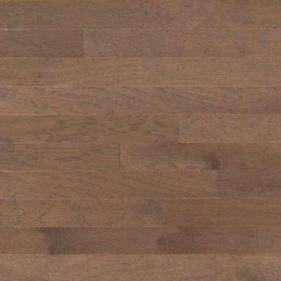 Take Home Sample - Brushed Vintage Hickory Stone Engineered Click Hardwood Flooring - 5 in. x 7 in.