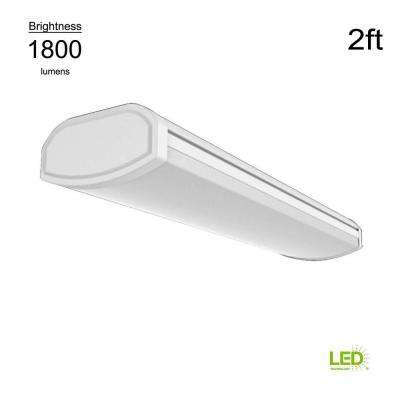 Low Profile 2 ft. White 1800 Lumens 4000K Integrated LED Wrap Light (Direct Wire Powered, 22 Watt, 120 Volt)