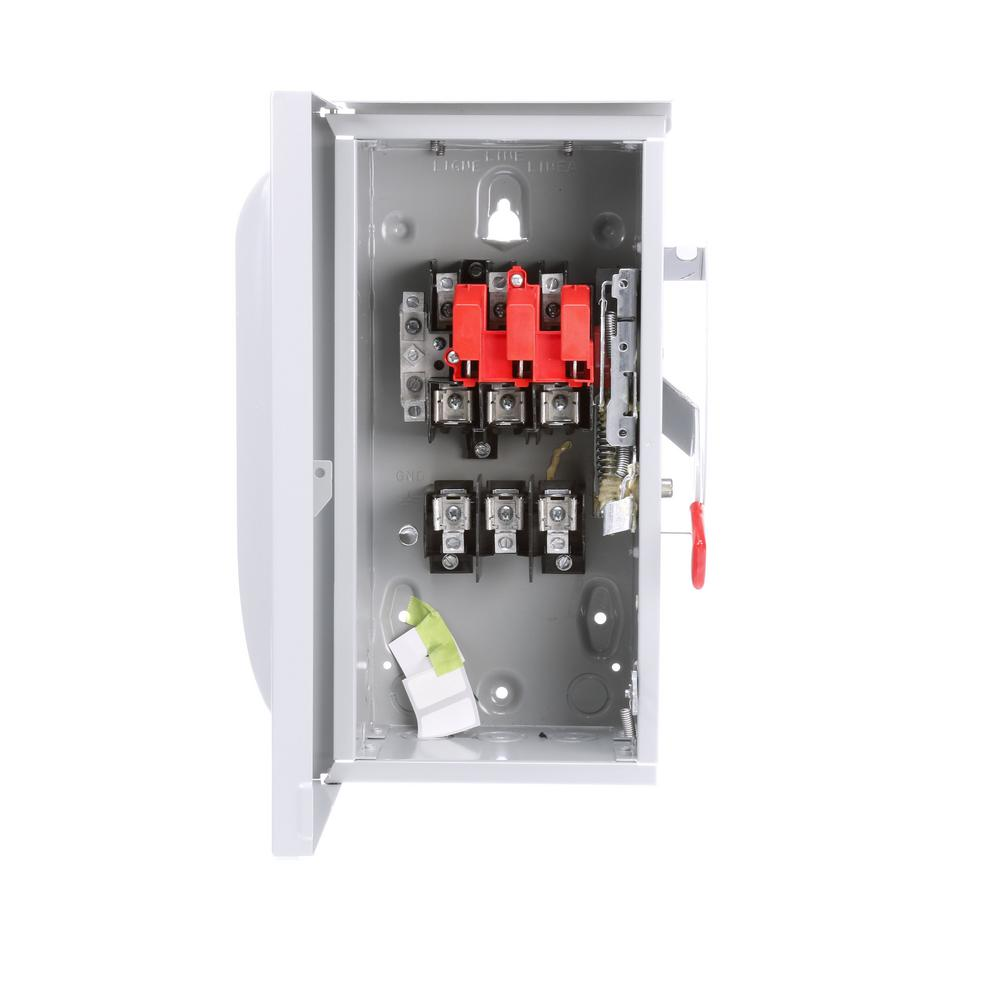 siemens general duty 60 amp outdoor fusible 3 phase safety switch rh homedepot com 60 Amp Fuse Box Fuse Box Peugeot