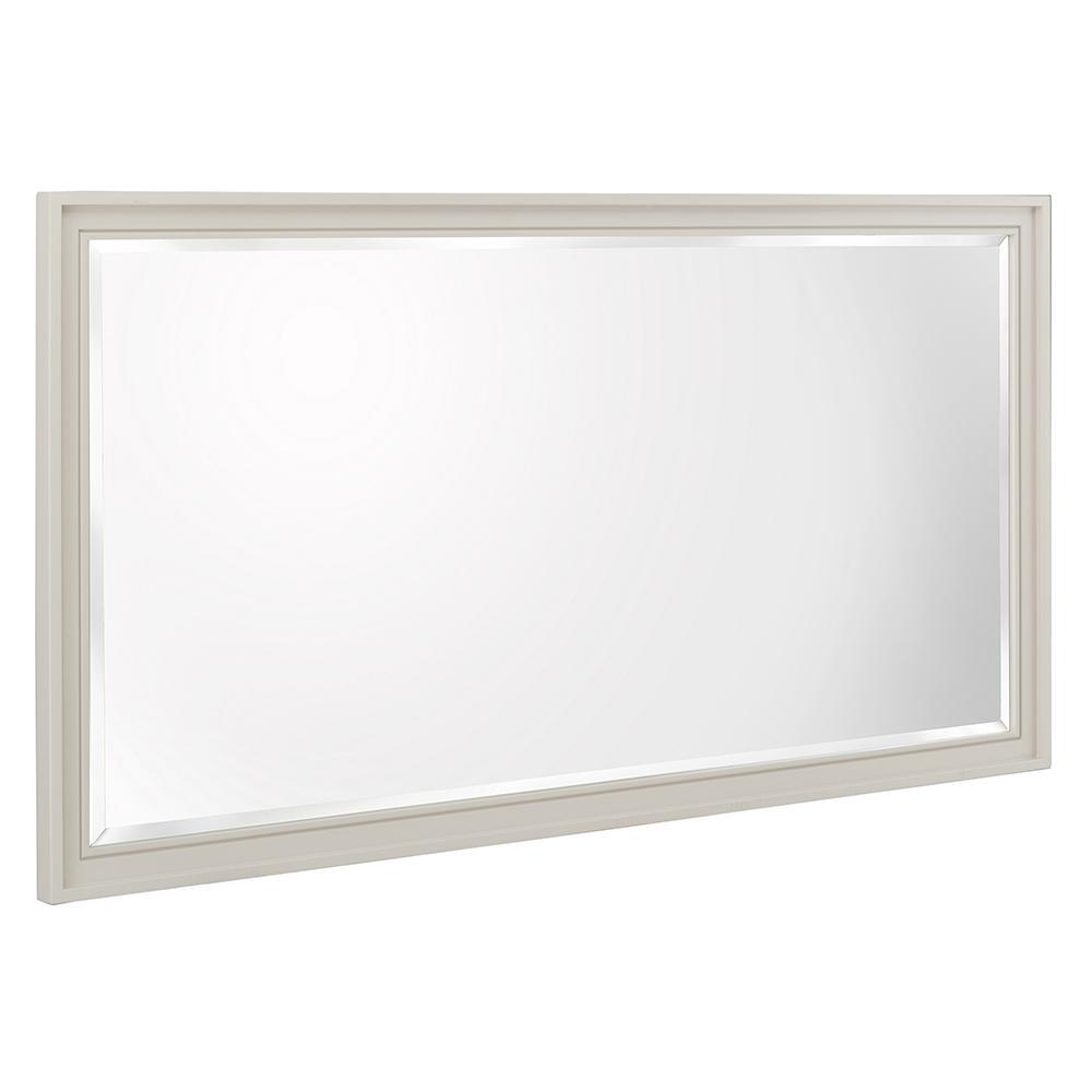 Shaelyn 60 in. W x 32 in. H Single Framed Wall Mirror in Rainy Day
