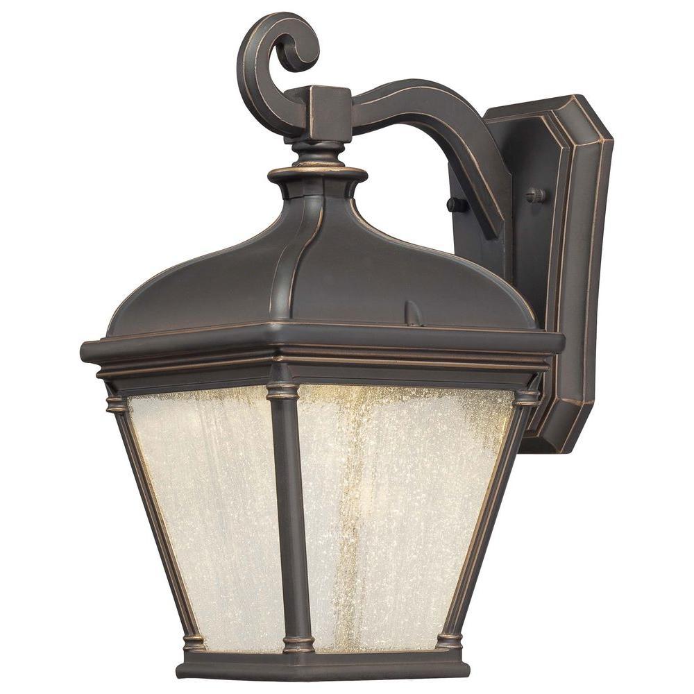 Lauriston Manor Wall-Mount 1-Light Oil-Rubbed Bronze Outdoor Lantern