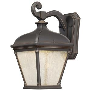 Lauriston Manor Wall-Mount 1-Light Oil-Rubbed Bronze Outdoor Wall Lantern Sconce