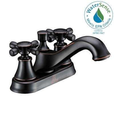 Major Series 4 in. Centerset 2-Handle Mid-Arc Bathroom Faucet in Oil Rubbed Bronze