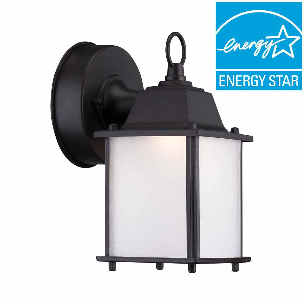 Hampton bay satin bronze outdoor led wall lantern hb7003 34 the hampton bay satin bronze outdoor led wall lantern aloadofball Choice Image