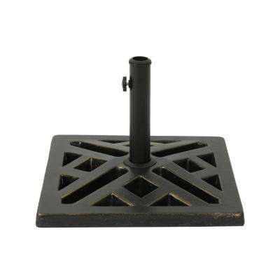 Tally 34.83 lbs. Concrete Patio Umbrella Base in Bronze