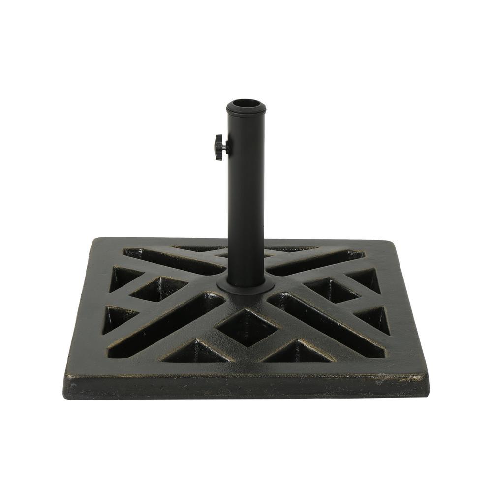 Tally 34.83 lbs. Concrete Patio Umbrella Base in Bronze