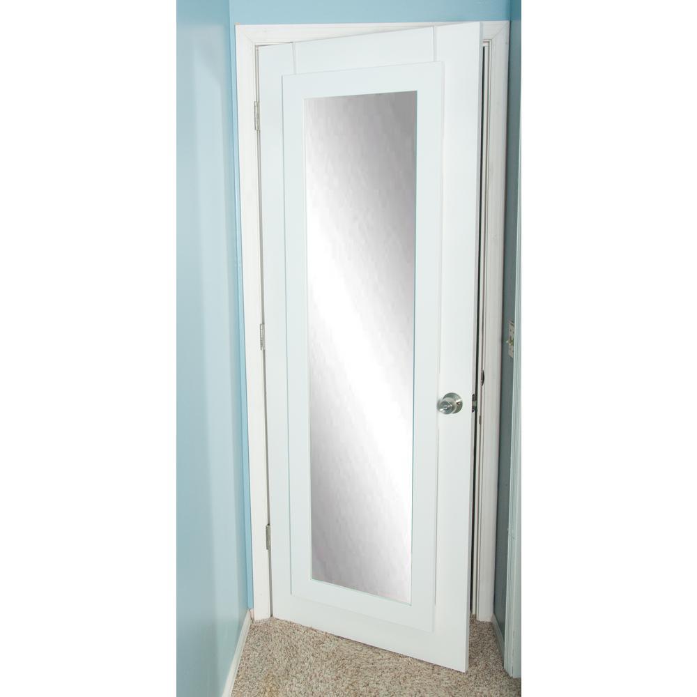 Matte White Over The Door Full Length Mirror
