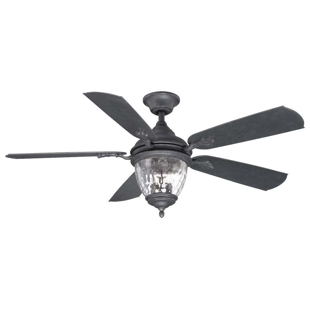 Home Decorators Collection Abercorn 52 in. Indoor/Outdoor Iron Ceiling Fan with Light Kit and Remote Control