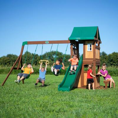 Lakewood All Cedar Wooden Swing Set