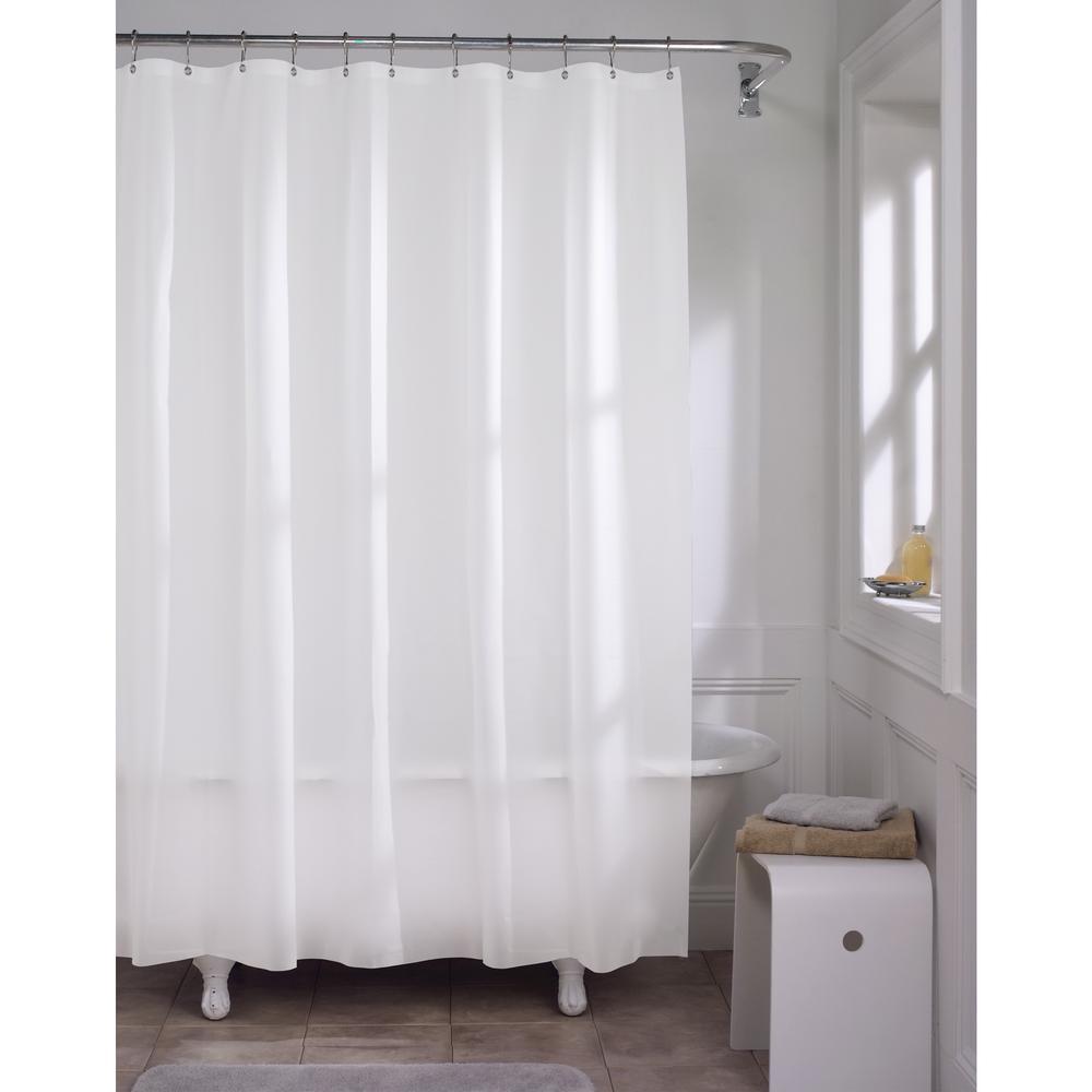 Premium Super Heavyweight 10 Gauge Shower Curtain Liner In White