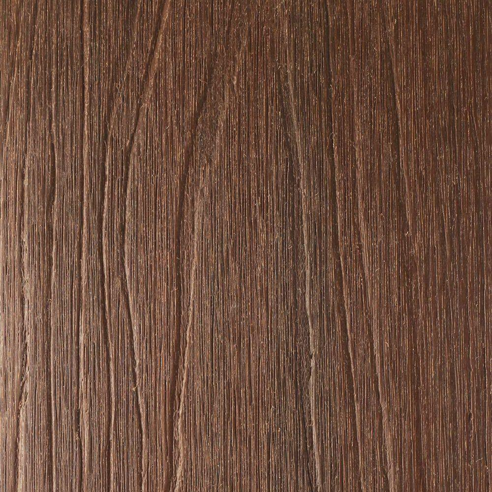 NewTechWood UltraShield Naturale Voyager 1 in. x 6 in. x 1 ft. Brazilian Ipe Hollow Composite Decking Board Sample