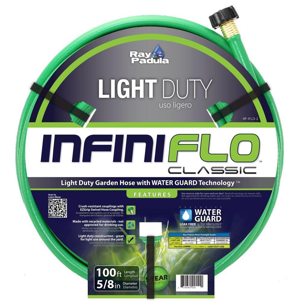 Ray Padula InfiniFlo Classic 5/8 In. Dia X 100 Ft. Light Duty Garden Hose RP IFLD 2    The Home Depot
