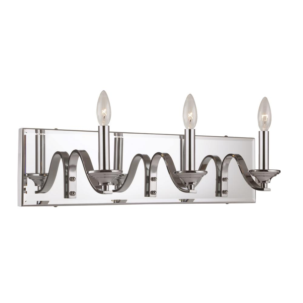 3-Light Polished Chrome Bath Light