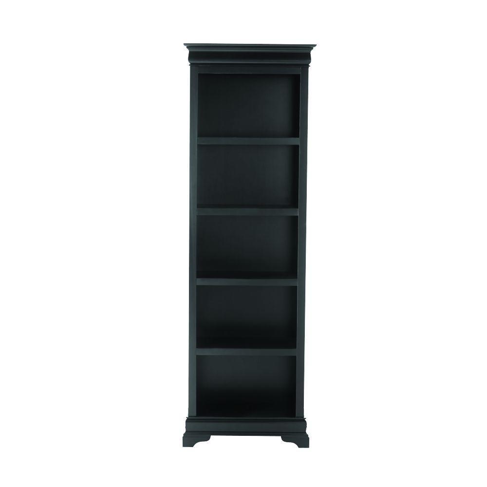 Louis Philippe Black Open Bookcase