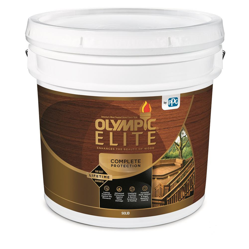 Olympic Elite 3 Gal Base 2 Solid Advanced Exterior Stain And Sealant In One