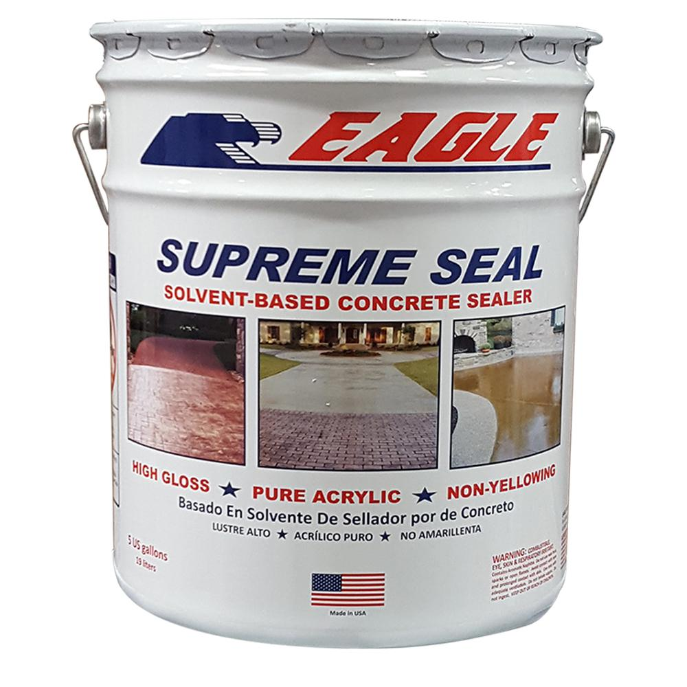 Eagle 5 Gal. Supreme Seal Clear High Gloss Solvent-Based Acrylic Concrete Sealer