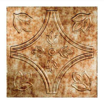 Traditional 5 - 2 ft. x 2 ft. Lay-in Ceiling Tile in Bermuda Bronze