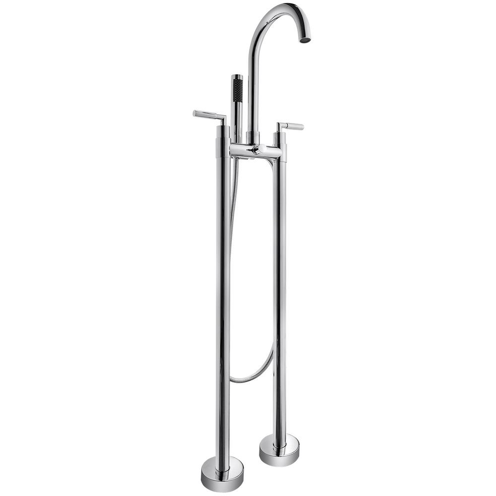 Akdy 2 Handle Freestanding Floor Mount Roman Tub Faucet Bathtub