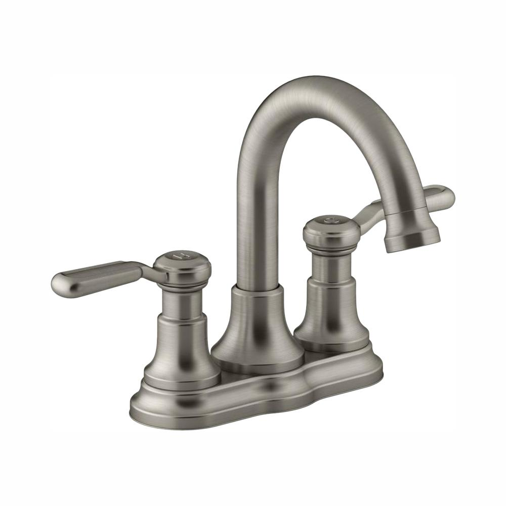 Single Handle Bathroom Faucet 1 or 3 Hole Sink Vibrant Brushed Nickel Worth New