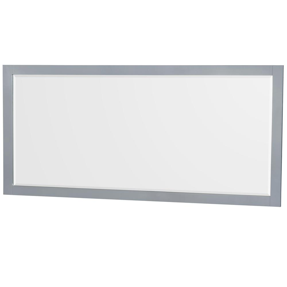 Wyndham Collection Sheffield 70 in. W x 33 in. H Framed Wall Mirror in Gray