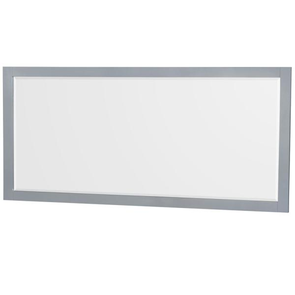 Sheffield 70 in. W x 33 in. H Framed Rectangular Bathroom Vanity Mirror in Gray