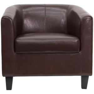 internet flash furniture brown leather office guest chair