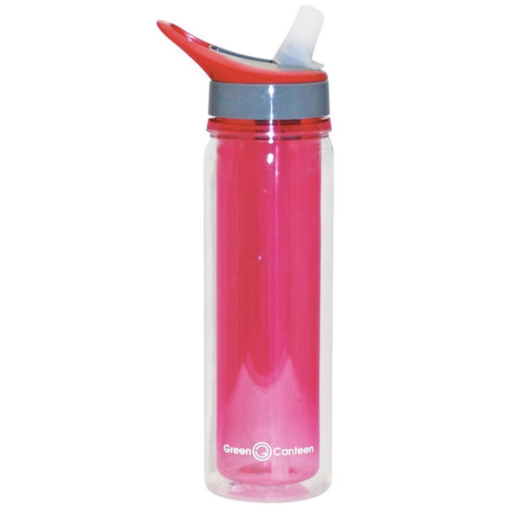 Green Canteen 18 oz. Pink Double Wall Tritan Plastic Hydration Bottle