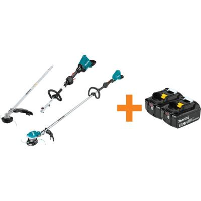18V X2 (36V) LXT Brushless Power Head with Trimmer Attachment and LXT String Trimmer w/Bonus 18V LXT 2Pk Battery 5.0Ah