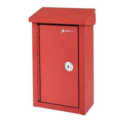 Heavy-Duty Steel Red Outdoor Large Key Drop Box