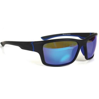 Sport Black with Blue Accent Polarized Sunglasses