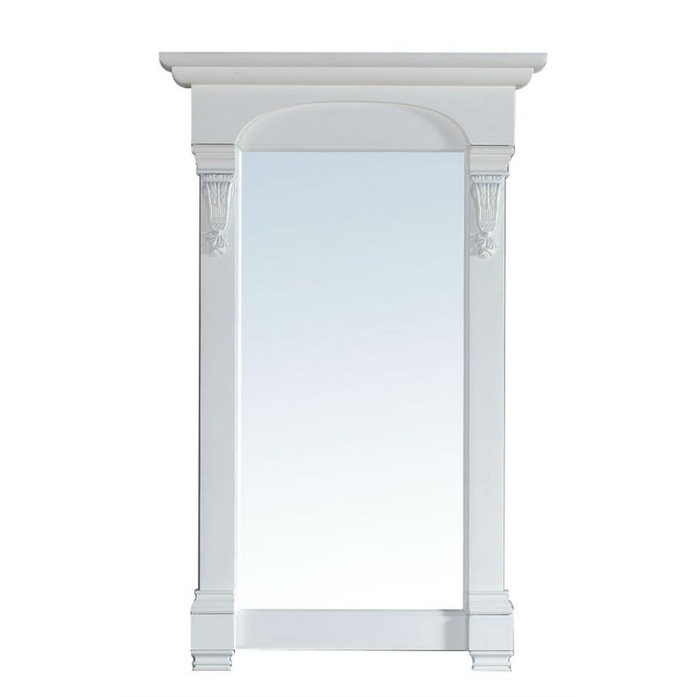 James Martin Signature Vanities Brookfield 26 in. W x 42 in. H Framed Wall Mirror in Cottage White