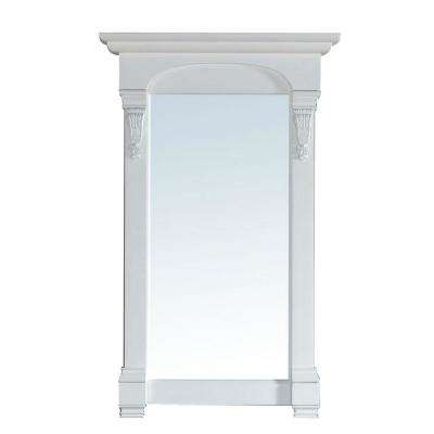 Brookfield 26 in. W x 42 in. H Framed Wall Mirror in Cottage White