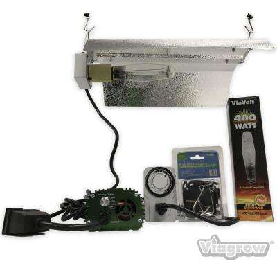 1-Light 400-Watt HPS/MH White Grow Light System with Timer/Remote Ballast and Reflector