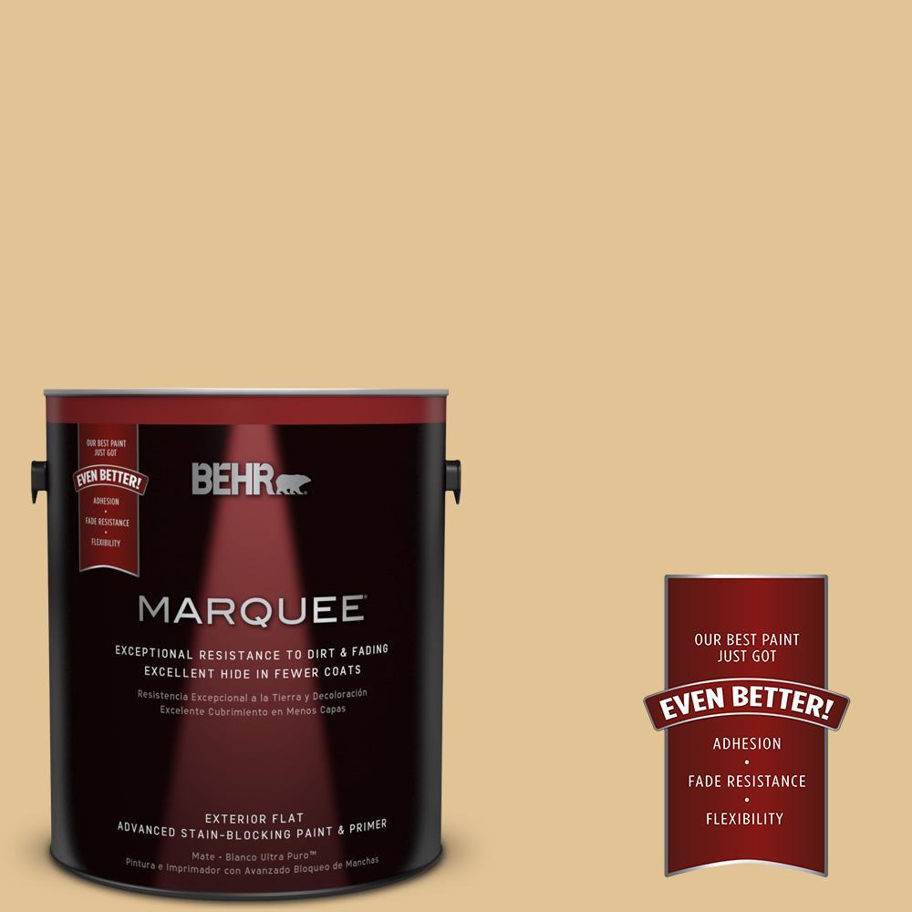 BEHR MARQUEE 1-gal. #310E-3 Ripe Wheat Flat Exterior Paint