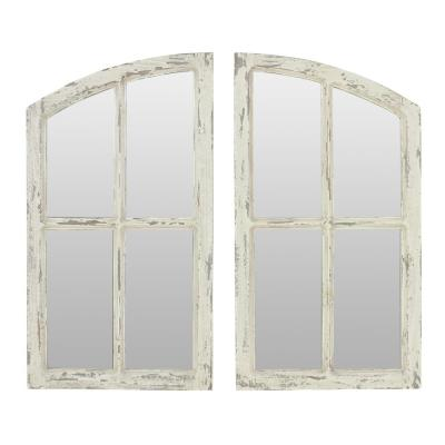 Jolene Arch Window Pane Mirrors (Set of 2)